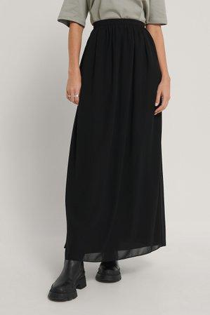 Maxi Sheer Skirt Black   na-kd.com