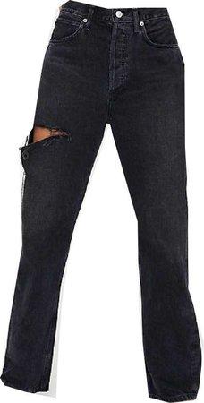 AGOLDE black distressed jeans