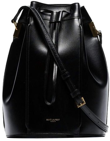 black Talita medium drawstring leather bucket bag