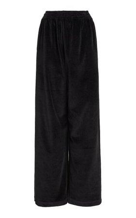 Cotton Velvet Track Pants By Balenciaga | Moda Operandi