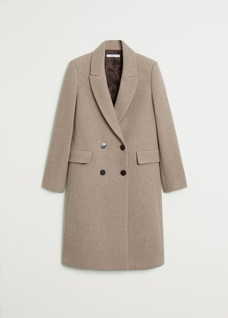 Double-breasted coat in a wool blend - Women | Mango Germany