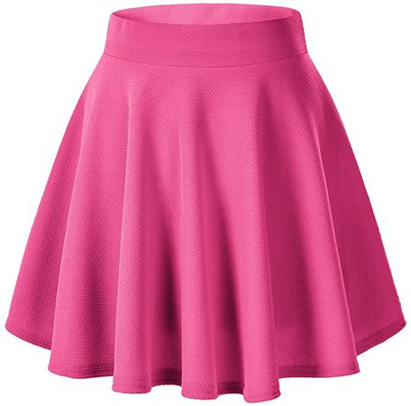 Urban CoCo Women's Basic Versatile Stretchy Flared Casual Mini Skater Skirt at Amazon Women's Clothing store