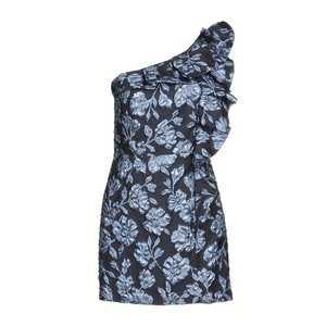 Christian Pellizzari Short Dress In Dark Blue