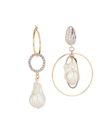 MOUNSER | Cardiff Pearl Mismatched Earrings| INTERMIX®