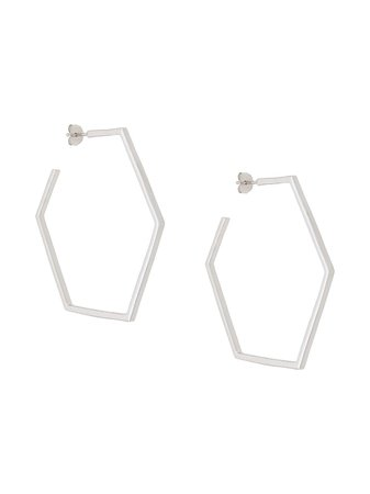 Rachel Jackson Hexagonal Hoop Earrings Ss20 | Farfetch.com