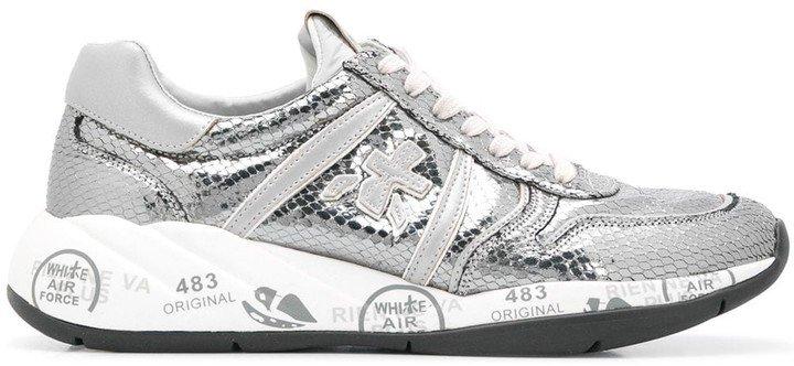 Layla metallic low top sneakers