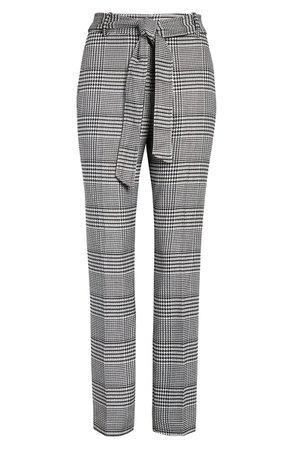 Halogen® Tie Waist Houndstooth Pants   Nordstrom