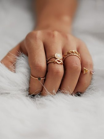 Rings - Diamond, Gemstone, Vintage & Gold Plated Rings | Romwe.com