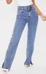 Split Hem Jeans | Denim | PrettyLittleThing USA