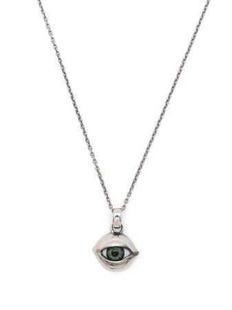 Yohji Yamamoto eye-pendant necklace metallic HDA07967 - Farfetch