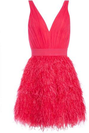 Tegan Feather Party Mini Dress