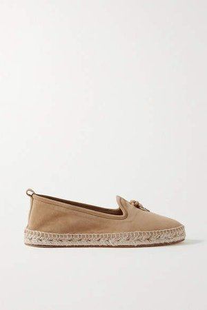 Summer Charms Suede Espadrilles - Sand
