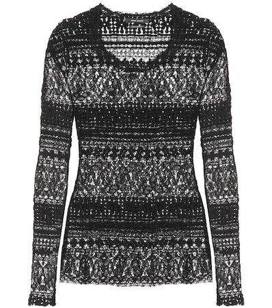 Yulia cotton-blend sweater