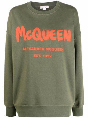 Alexander McQueen Sweat à Logo Imprimé - Farfetch