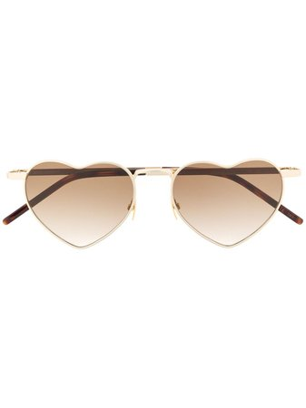 Saint Laurent Eyewear Loulou heart-frame Sunglasses - Farfetch