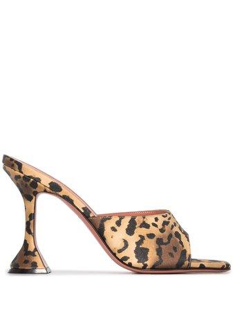 Amina Muaddi Lupita 95mm leopard-print Mules - Farfetch