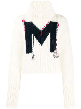 Moncler Monogram Knitted Jumper | Farfetch.com