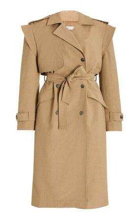 Oversized Cotton-Blend Trench Coat By The Mannei | Moda Operandi