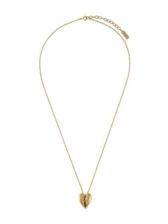Saint Laurent Cowrie Shell Pendant Necklace 621183Y1500 Gold   Farfetch