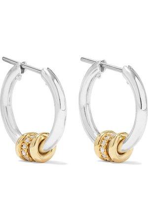 Spinelli Kilcollin | Sterling silver, 18-karat gold and diamond hoop earrings | NET-A-PORTER.COM