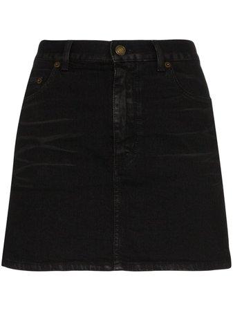Saint Laurent mini denim skirt