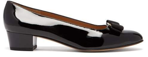 Vara Black Patent-leather Pumps - Womens - Black