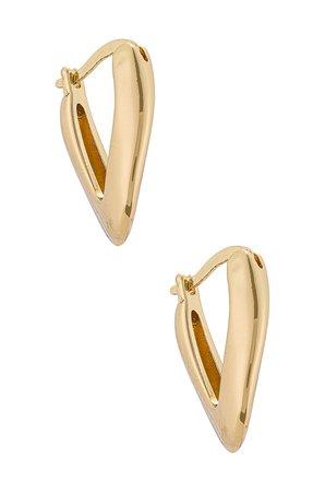 Amber Sceats Hoop Earrings in Gold | REVOLVE