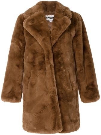 Apparis Sasha Oversized faux-fur Coat - Farfetch