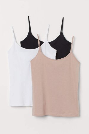 H&M+ 3-pack Tank Tops - Black