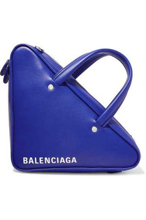 Balenciaga | Triangle Duffle printed leather tote | NET-A-PORTER.COM