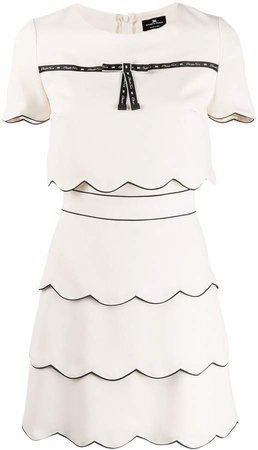 Scalloped Layer Trim Dress