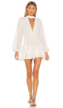 HEMANT AND NANDITA Dayo Mini Dress in White | REVOLVE