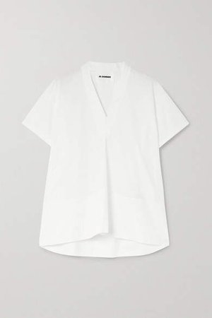 Maria Cotton-poplin Top - White