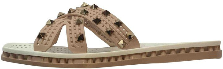 Rockstud Beige Rubber Sandals