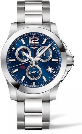 Conquest Chronograph Bracelet Watch, 41mm