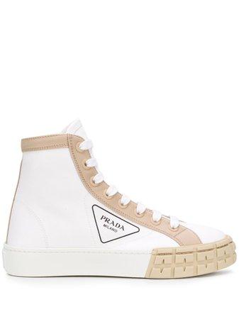 Prada Gabardine hi-top Sneakers - Farfetch