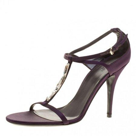 Purple Cloth Sandals