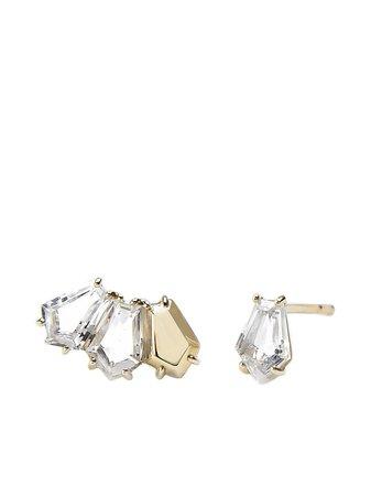 BONDEYE JEWELRY 14kt Gold Topaz Selene Stud Earrings - Farfetch