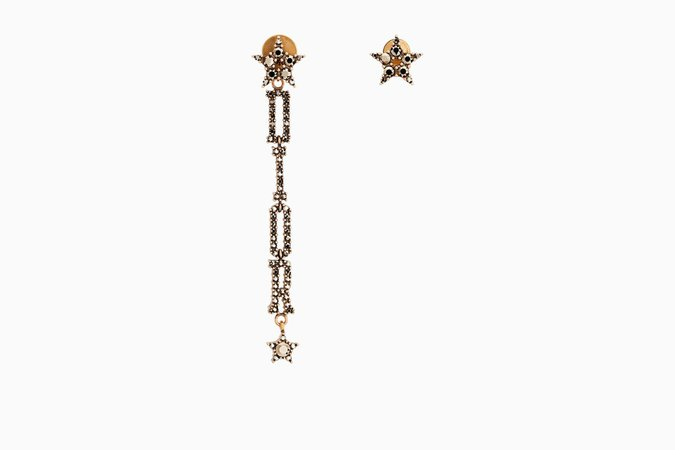 "Boucles d'oreilles ""Dior(e)volution"" en métal vieilli doré - Dior"