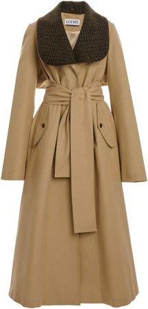Loewe Belted Gabardine Trench Coat