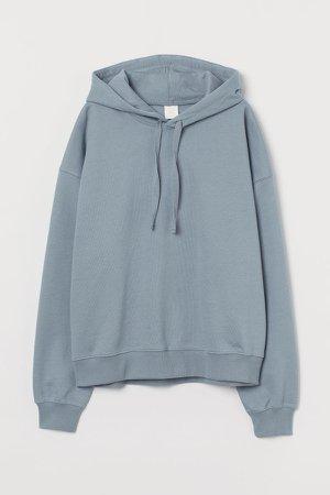 Cotton Hoodie - Blue