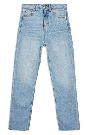 Topshop Raw Hem Crop Straight Leg Jeans (Regular & Petite) | Nordstrom