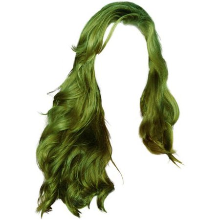 green doll hair png