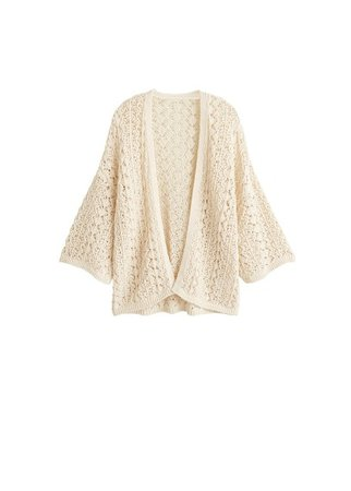 MANGO Openwork cotton cardigan