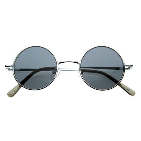 Retro Hippie Fashion Metal Color Lens Sunglasses - zeroUV