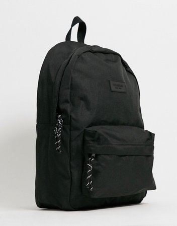 Pull&Bear canvas backpack in black | ASOS