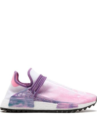 Shop pink & white adidas by Pharrell Williams PW HU Holi NMD MC sneakers with Express Delivery - Farfetch