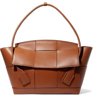 Arco Large Intrecciato Leather Shoulder Bag - Brown
