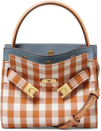 Small Lee Radziwll Gingham Shoulder Bag