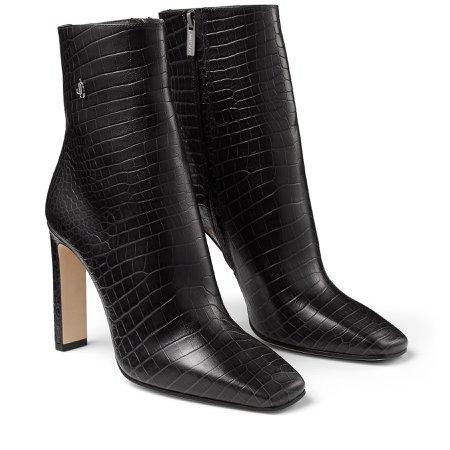 Dusk Croc Embossed Leather Ankle Boots|MINORI 100| Autumn Winter 19| JIMMY CHOO